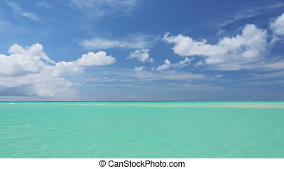 beautiful tropical sea, caribbean