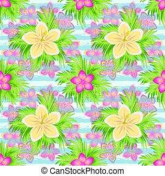 Beautiful Tropical seamless pattern, vector illustration