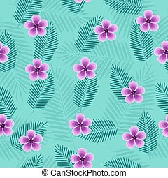 beautiful tropical vector seamless pattern with leaves