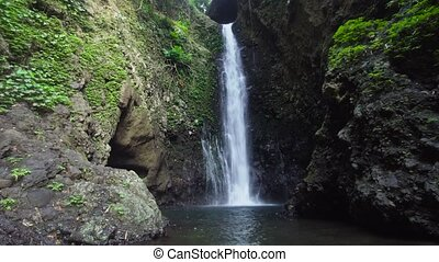 Beautiful tropical waterfall. Bali,Indonesia. - Waterfall in...