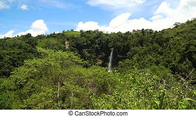 Beautiful tropical waterfall. Philippines Bohol island. -...