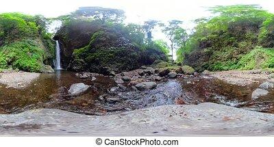 Beautiful tropical waterfall. vr360 Bali,Indonesia. - vr360...