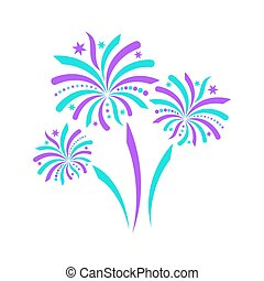 Beautiful-turquoise-and-violet-vector-firework-icon-isolated