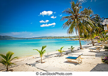 Beautiful turquoise beach on Koh Rong Samloem in Cambodia...