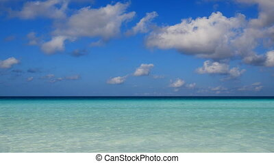 Beautiful turquoise sea - View of the beautiful turquoise...