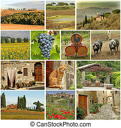 beautiful tuscan images collage