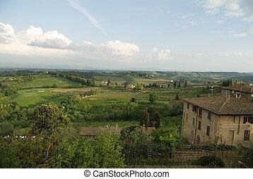 Landscapes of Tuscany, Italy.