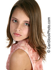 Beautiful Tween - Beautiful 12 year old girl in make-up and...