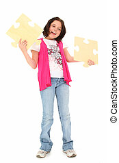 Beautiful Tween with Puzzle Pieces