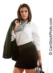 Beautiful twenties hispanic woman