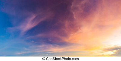Beautiful Twilight sky in golden time 2