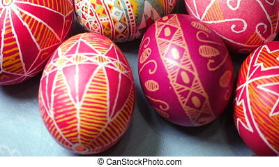 Easter egg Pysanka - beautiful ukrainian traditional...