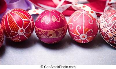 beautiful ukrainian traditional handmade Easter egg Pysanka