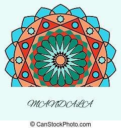 beautiful unusual pattern, color mandala