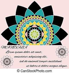beautiful unusual pattern, mandala