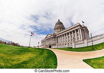 Beautiful Utah Capitol building during day