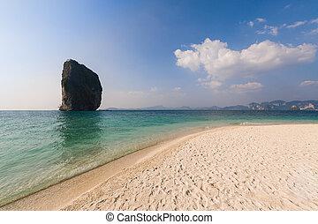 Beautiful vacation seaside beach