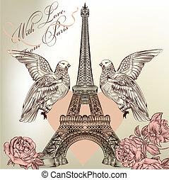 Beautiful Valentine card with detai