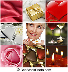 collage - beautiful valentine collage made from nine...