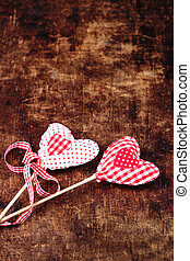 Beautiful valentines day background with red hearts and...