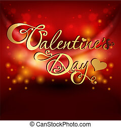 valentine's day card on red background