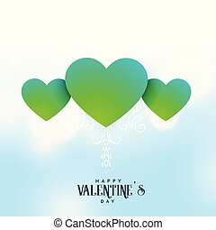 beautiful valentine's day greeting design with heart