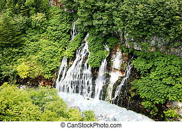 Beautiful valley waterfall