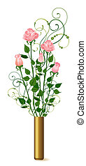 vase with bouquet from roses