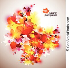 beautiful vector autumn background