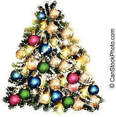 Beautiful vector Christmas tree for