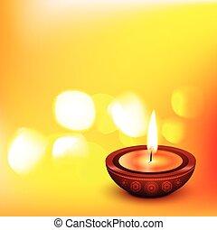 beautiful vector diwali diya