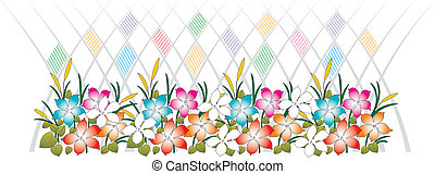 Beautiful vector floral border