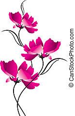 Beautiful vector flower