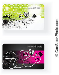 Beautiful Vector Gift card - Beautiful editable vector gift...
