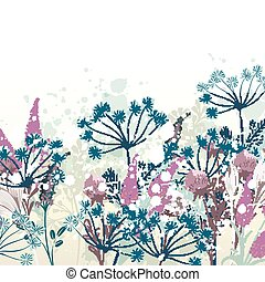 Beautiful vector hand drawn floral illustration for design