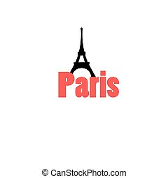 icon with the word Paris