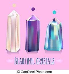 Bright, beautiful, shiny crystals