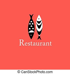 icon with a fish restaurant