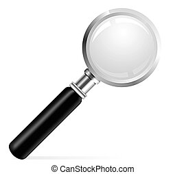 Beautiful vector illustration of a Magnifier