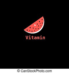 piece of watermelon icon labeled vitamin