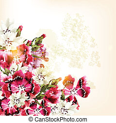 Beautiful vector pattern with pink