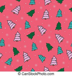 beautiful vector seamless pattern with Christmas trees