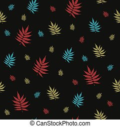 beautiful vector seamless pattern with falling leaves