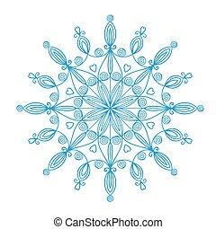 Beautiful vector snowflake