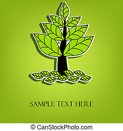 Beautiful vector tree