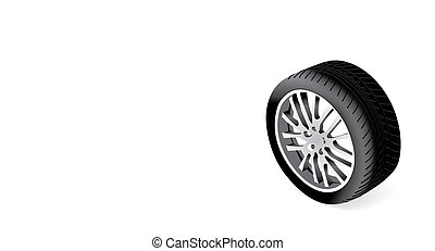 Beautiful vector wheel isolated on white background
