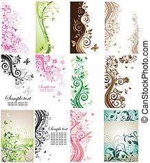 Beautiful vertical cards
