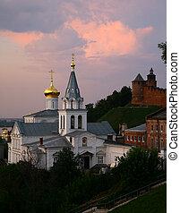 Beautiful view Church of Elijah the Prophet Nizhny Novgorod