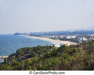 Beautiful view from Naksansa temple, South Korea