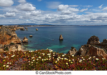 beautiful view from the Algarve coast